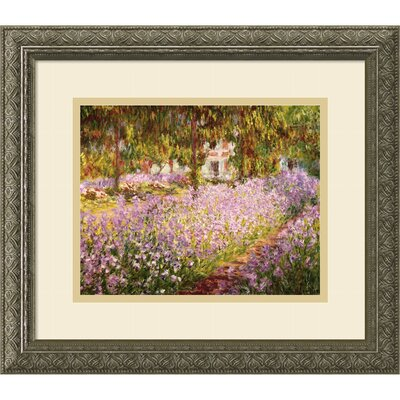 'The Garden at Giverny, 1900' by Claude Monet Framed Painting Print