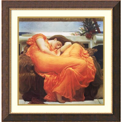 'Flaming June, c.1895' by Lord Frederic Leighton Framed Painting Print
