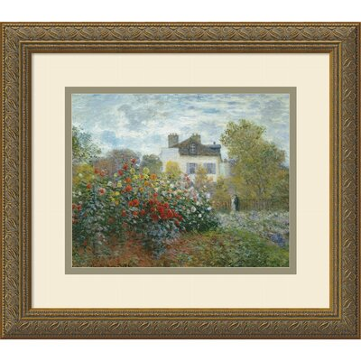 'The Artist's Garden at Argenteuil, 1873' by Claude Monet Framed Painting Print