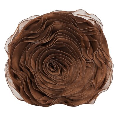 Harlowe Throw Pillow Color: Chocolate
