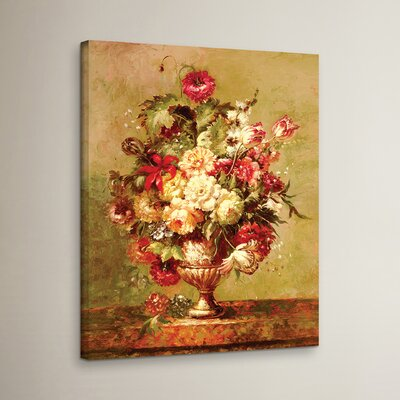 Renaissance Flowers II Painting Print on Wrapped Canvas