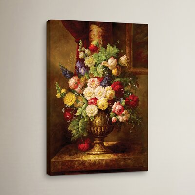 Reaissance Flowers Painting Print on Wrapped Canvas