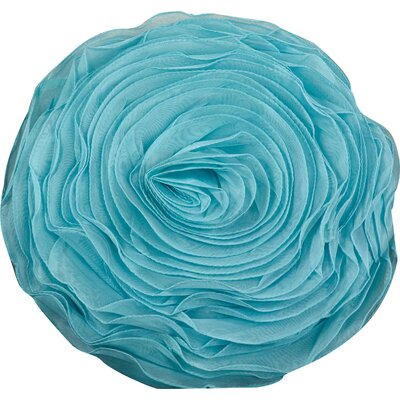 Floral Throw Pillow Color: Turquoise