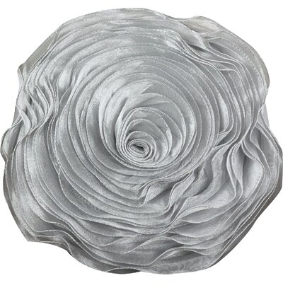 Floral Throw Pillow Color: Silver