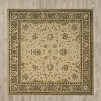 Foland Machine Woven Green/Beige Area Rug