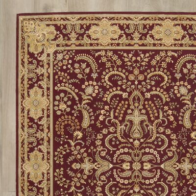 Christopherson Machine Woven Beige/Red Area Rug