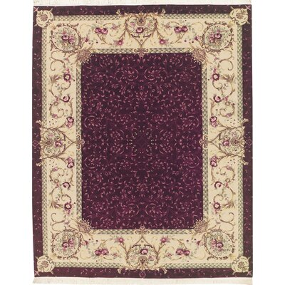 Millersville Hand Tufted Wool/Silk Purple Area Rug Rug Size: Rectangle 79 x 99