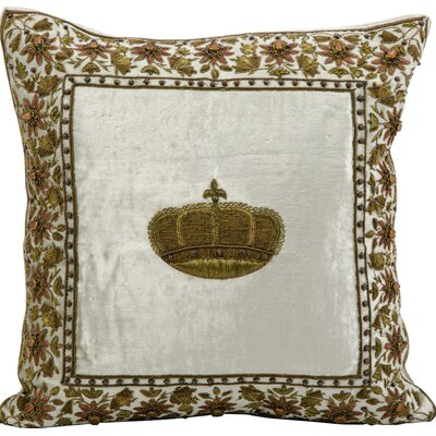 Marchand Wire Embroidery Throw Pillow