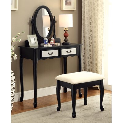 Bakewell Vanity Set with Mirror