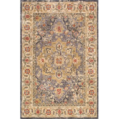 Irvine Gray Area Rug Rug Size: Rectangle 76 x 96