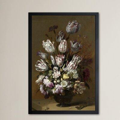 'Flower Arrangement IX' Framed Painting Print Size: 24