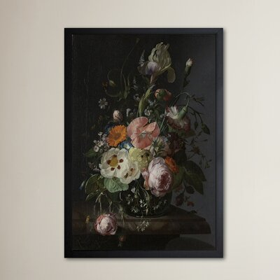 'Flower Arrangement IV' Framed Painting Print Size: 24