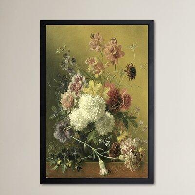 'Flower Arrangement' Framed Painting Print Size: 24