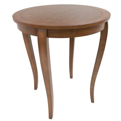 Hubbell Round Classic Wood Pub Table Finish: Tudor