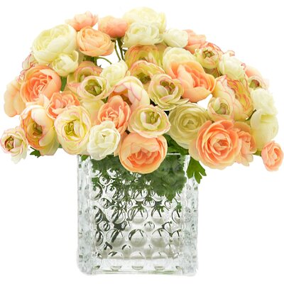 Assorted Cream/Peach Ranunculus Bouquet