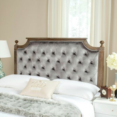 Binne Upholstered Panel Headboard Color: Grey, Size: Queen