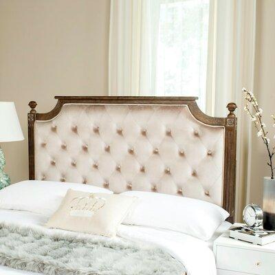 Binne Upholstered Panel Headboard Color: Beige, Size: Queen