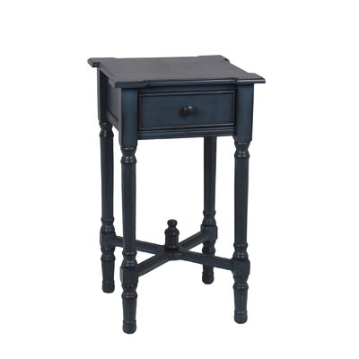 Pratt 1 Drawer End Table Color: Antique Navy
