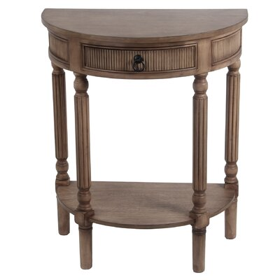 Daugherty 1 Drawer Half Round End Table Finish: Desert Brown