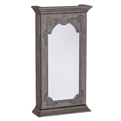 Cadmore Wall Mount Jewelry Armoire with Mirror
