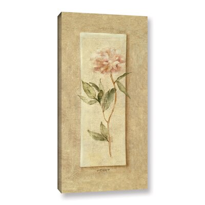 Pink Peony Panel Painting Print on Wrapped Canvas