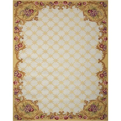Altilevelly Handmade Ivory Area Rug