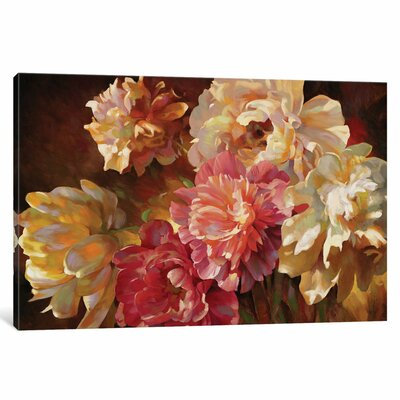 Peonies In Pastel Original Painting on Wrapped Canvas
