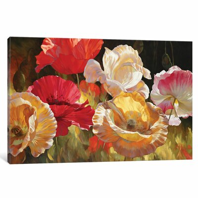 Poppy Celebration Original Painting on Wrapped Canvas