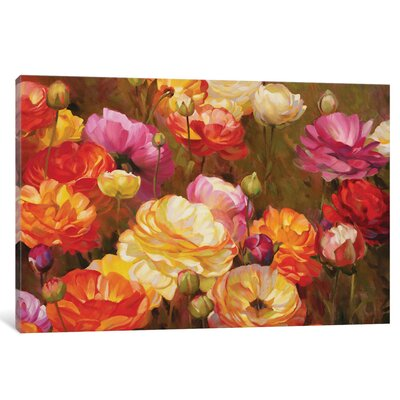 Ranunculus Garden Original Painting on Wrapped Canvas
