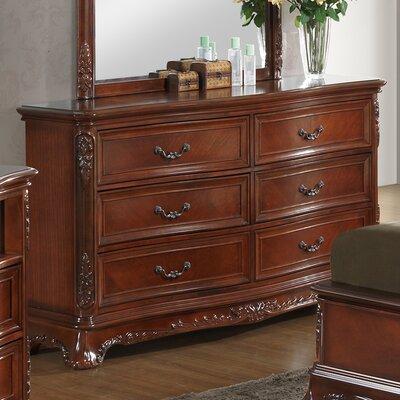 Longstaff 6 Drawer Dresser Color: Cherry