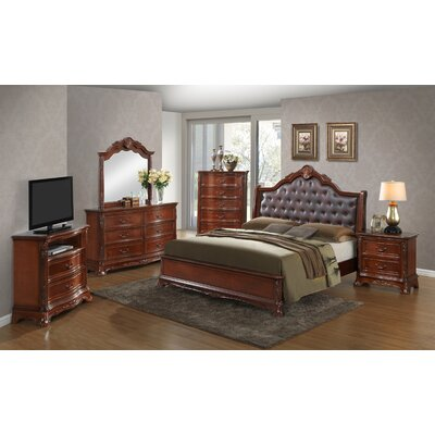 Longstaff 2 Drawer Nightstand Color: Cherry