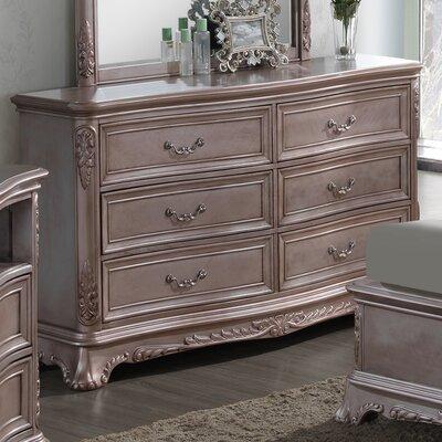Longstaff 6 Drawer Dresser Finish: Gray Antique