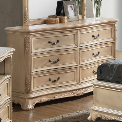Longstaff 6 Drawer Dresser Color: Bisque