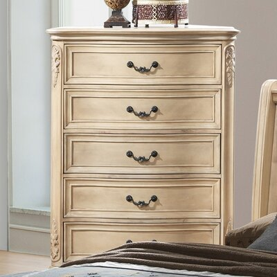 Longstaff 5 Drawer Chest Color: Bisque