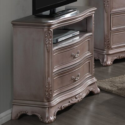 Longstaff 5 Drawer Media Chest Color: Gray Antiqued