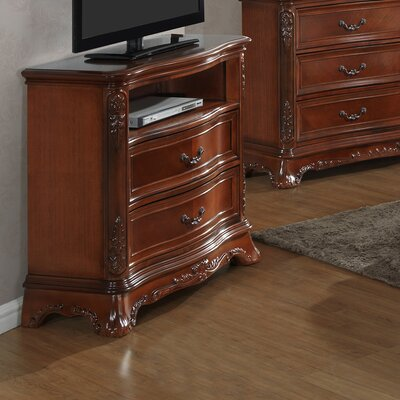 Longstaff 5 Drawer Media Chest Color: Cherry