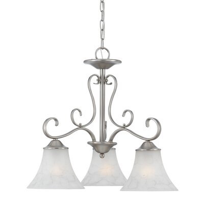 Alluvial 3-Light Shaded Chandelier Finish: Antique Nickel
