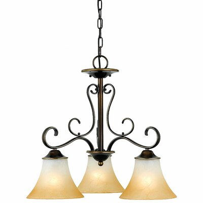 Alluvial 3-Light Shaded Chandelier Color: Palladian Bronze