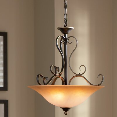 Alluvial 4-Light Inverted Pendant Finish: Palladian Bronze