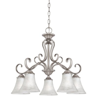 Alluvial 5-Light Shaded Chandelier Color: Antique Nickel