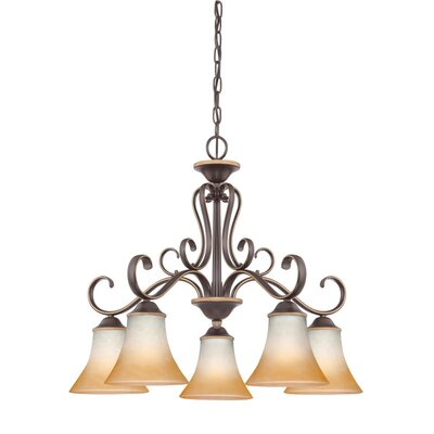Alluvial 5-Light Shaded Chandelier Color: Palladian Bronze