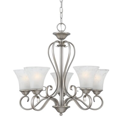 Alluvial 5-Light Shaded Chandelier Finish: Antique Nickel
