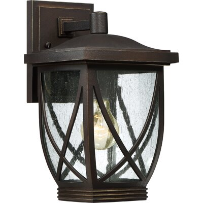 Baylor 1-Light Outdoor Wall Lantern Size: 12.5