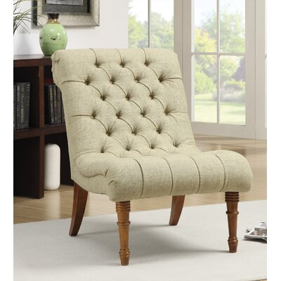 Bottrell Tufted Side Chair Upholstery: Yellow Green