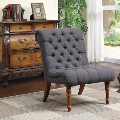 Barnkine Tufted Side Chair Upholstery: Dark Grey