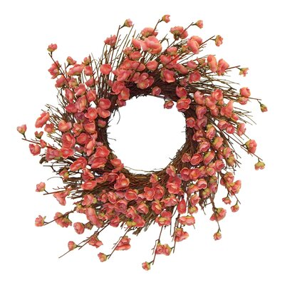 Faux Cherry Blossom Wreath