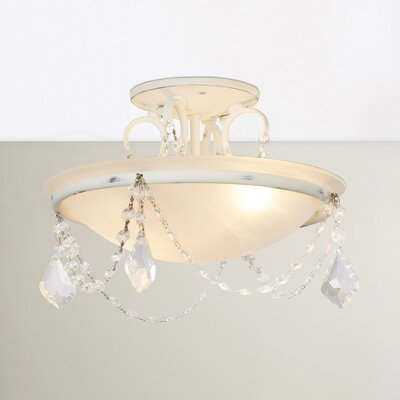 Izidora 2-Light Semi Flush Mount Size: 9.5