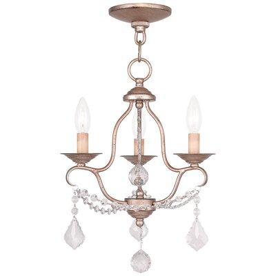 Bayfront 3-Light Candle-Style Chandelier Finish: Antique Silver Leaf