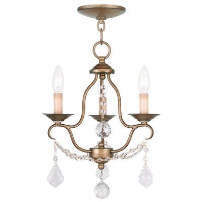 Bayfront 3-Light Candle-Style Chandelier Finish: Antique Gold Leaf