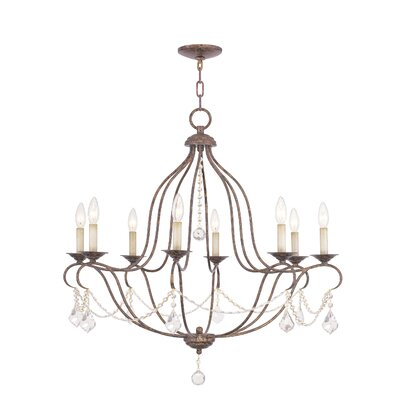 Bayfront 8-Light Crystal Chandelier Finish: Venetian Golden Bronze